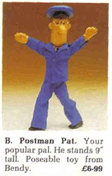 Bendy Toys Postman Pat Hamleys Catalogue c 1985