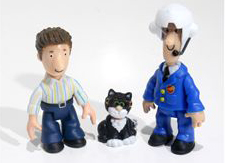 Ben, Jess the Cat and Pilot Postman Pat
