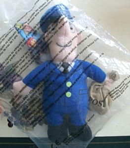 Mcdonalds Postman Pat beanie toy
