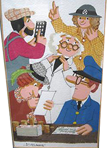 Original Postman Pat Illustration in gouache by Joan Hickson