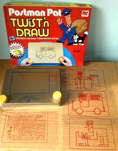 Postman Pat Twist N Draw etch-a-sketch toy