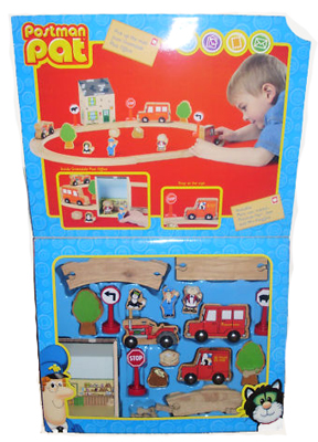 Wooden Postman Pat Set by Born to Play